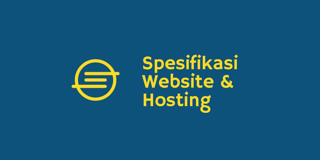 Spesifikasi Hosting
